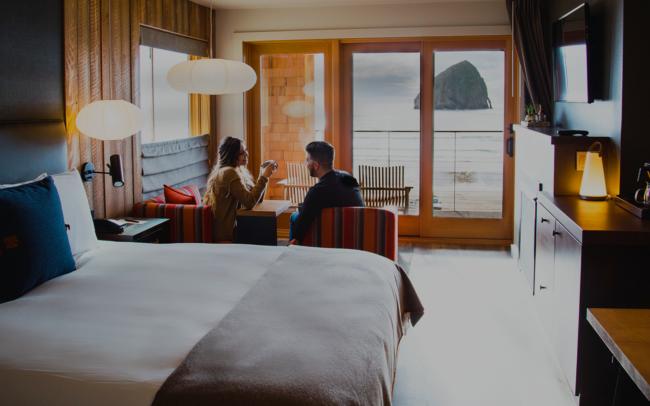 Hotel room at the coast